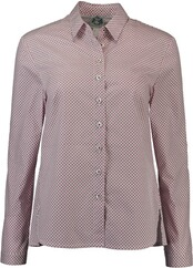 HAMMERSCHMID Minimalmuster Bluse beere