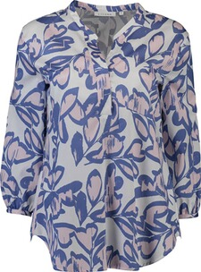 ETERNA Tunika-Bluse 3/4-Arm blau
