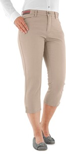 BRAX Capri Hose Mary beige Slim Fit mit Stretch