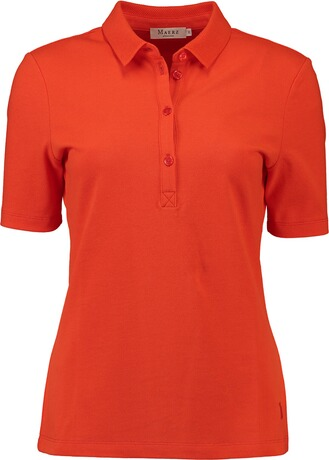 MAERZ Polo-Shirt in Piqué-Qualität orange