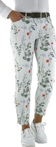 TONI Perfect Shape 7/8 Hose weiss mit Blumenmuster
