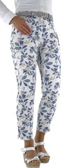 TONI 7/8 Hose be loved mit Blumendruck blau