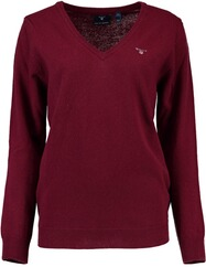 GANT Lambswool V-Neck Pullover bordeaux