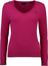 Gant Extrafine Lambswool V-Neck Pullover pink