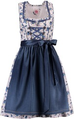 SPIETH & WENSKY Dirndl Honey weiß/blau/denim