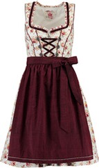 SPIETH & WENSKY Dirndl Honey weiß/rot/bordeaux