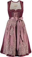 Krüger Collection Midi Dirndl Marie bordeaux flieder