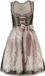 Krüger Collection Midi Dirndl Gloria oliv rosa