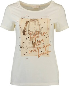 KRÜGER COLLECTION T-Shirt Fall in Love ecru