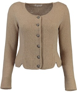 Damenjanker: KRÜGER COLLECTION Trachten-Strickjacke Heidl beige