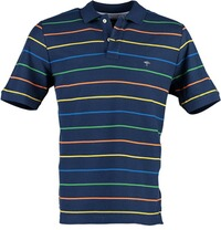 FYNCH HATTON Polo-Shirt dunkelblau geringelt