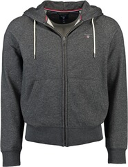 GANT Sweat-Jacke anthrazit meliert