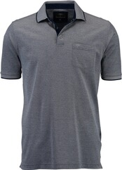 FYNCH HATTON Poloshirt midnight melange