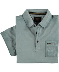 PME LEGEND Poloshirt Used-Look hellblau