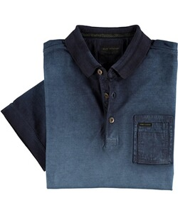 PME LEGEND Poloshirt Used-Look blau
