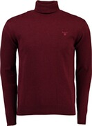 Gant Light Weight Cotton Turtle Neck burgundy für Herren