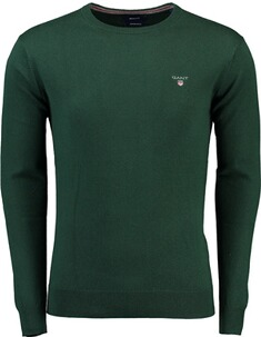 GANT Pullover Cotton Wool Crew tartan green