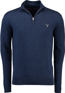 Gant Cotton Wool Half Zip marine melange