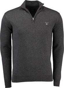 Gant Cotton Wool Half Zip antracit melange