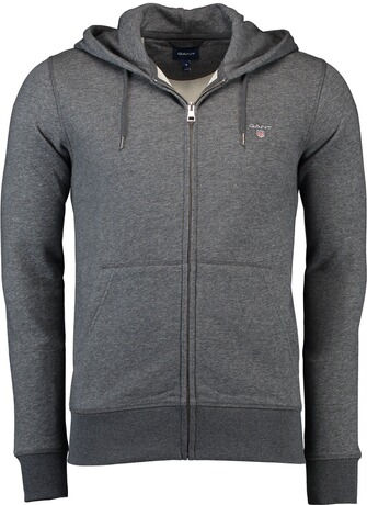 Gant The Original Full Zip Hoodie anthrazit melange