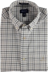 GANT The Beefy Oxford Check Reg BD Hemd Sea Turtle