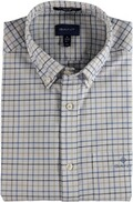 GANT The Beefy Oxford Check Reg BD Hemd Mid Blue