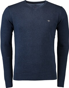 FYNCH-HATTON V-Neck-Pullover blau