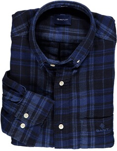 Gant Regular Fit Karo-Hemd aus doppellagigem Flanell evening blue