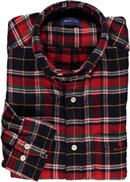 Gant Regular Fit Karo-Hemd aus doppellagigem Flanell bright red