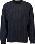GANT Lambswool Pullover mit Zopfmuster evening blue