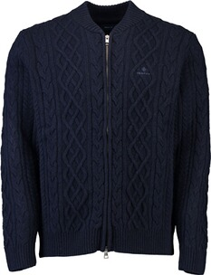 Gant Aran Acble Fullzip Cardigan evening blue
