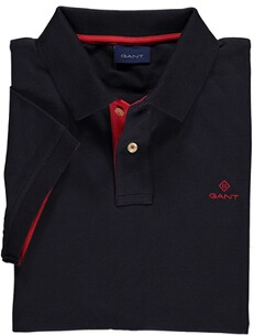 GANT Polo-Shirt Contrast Collar Pique SS Rugger Evening blue