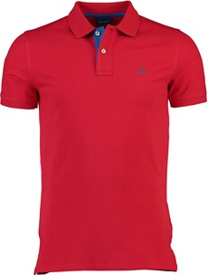 GANT Polo-Shirt Contrast Collar Pique SS Rugger Bright Red