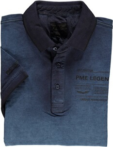 PME LEGEND Polo-Shirt blau