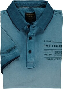 PME LEGEND Polo-Shirt hellblau