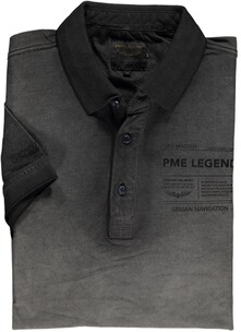 PME LEGEND Polo-Shirt schwarz