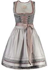 KRÜGER COLLECTION Dirndl Adele grau