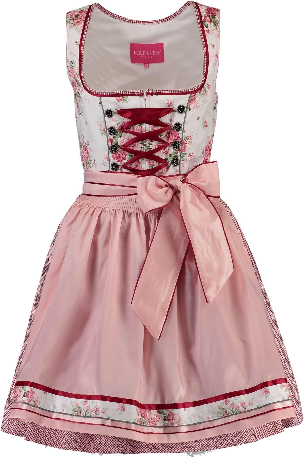 94624f9ab711e1 KRÜGER MADL Dirndl Michelle natur mit floralem Muster - Krüger Kleidung