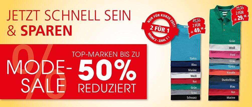 Krüger Mode SALE bis zu 50% reduziert - nimm 2 Shirts zahle 1