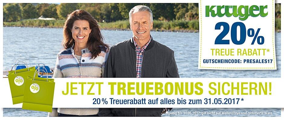Jetzt Treuebonus sichern! 20% Rabatt bis 31.5.17